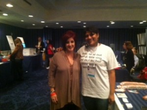 Author Rachel in the OC and BiblioCrunch CEO Miral Sattar