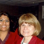 Miral Sattar with BiblioCrunch Author/Publishers Deb Chase