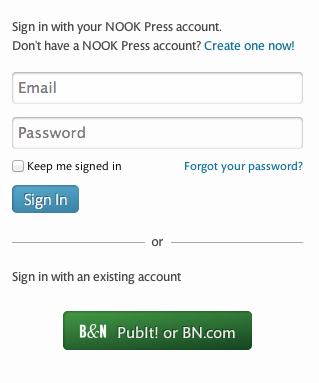 NookPress Login