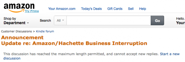 Amazon board posting