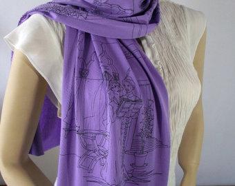 Dante Alighieri scarf literaryartprint