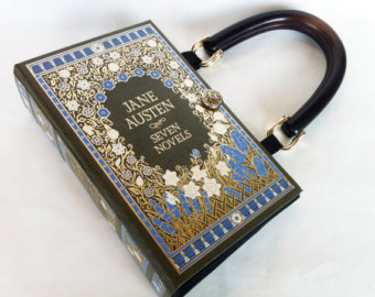 Jane Auseten Leatherbound Book Purse