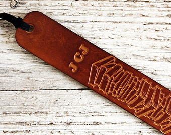 personalized leather bookmark exsect