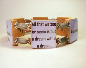 poe quotes bracelet pawsintime